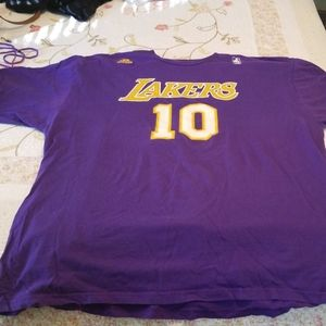Retired Lakers shirt for Lakers NASH 10
